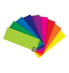 Fan type color swatch for printing industry vector