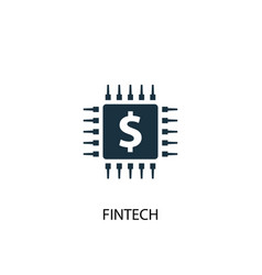 Fintech icon simple element fintech vector