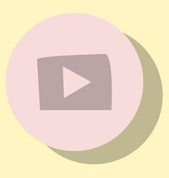 Flat play logo icon buttonyoutube social vector