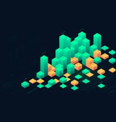futuristic digital data visualization infographic vector image