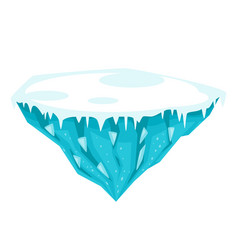 Game ice island vector