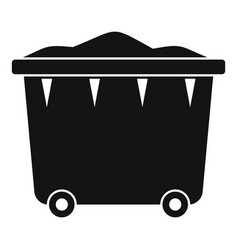 Garbage container icon simple style vector