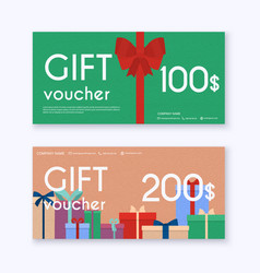 gift card and promotion strategy gift voucher vector image
