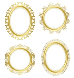 Golden decorative frames - set vector