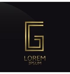 Golden g letter vector