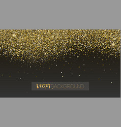 golden glitter texture sparkling snow dust vector image