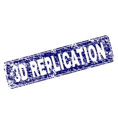 Grunge 3d replication framed rounded rectangle vector