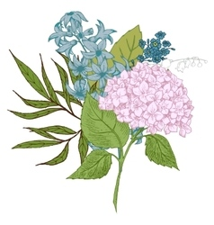Hand-drawn floral bouquet vector image