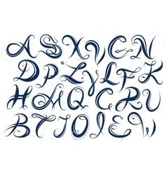 Handwritten letters font type vector image