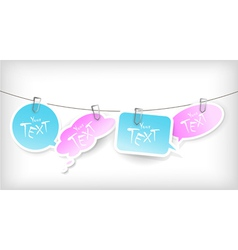 hanging stickers vector image
