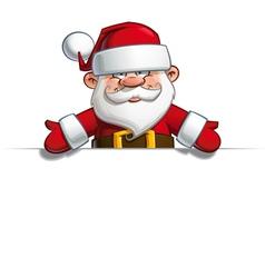 Happy Santa Empty Label Open Hands vector image