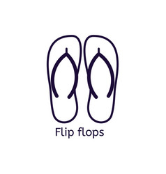 Icon of flip flops on a white background vector