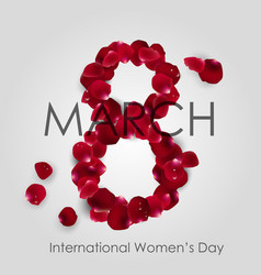 international women day with rose petals arrange vector image