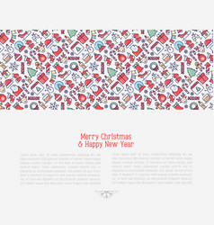 Merry christmas celebration concept vector