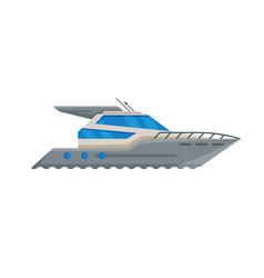 modern passenger boat side view water transport vector image