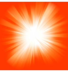 Orange color burst vector image