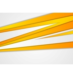 Orange corporate stripes abstract background vector