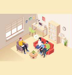 people at psychologist therapy family counseling vector image