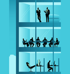 people working at office building vector image