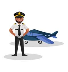 Pilot cartoon character vector