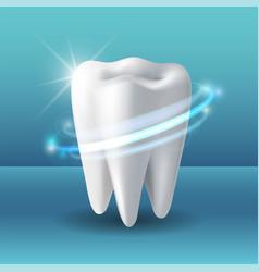 protective vortex around tooth whitening human vector image