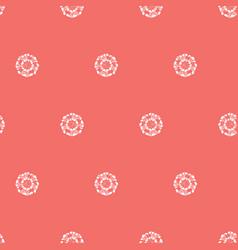Red shibori simple round polka dot seamless vector