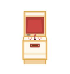 Retro game machine flat vector