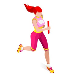 Running Relay 2016 Sports Isometric 3D vector image