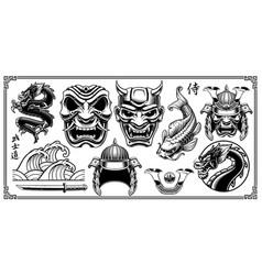 samurai clipart vector image