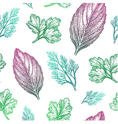 seamless pattern with seasonings vector image