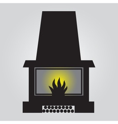 Simple fireplace icon eps10 vector