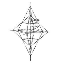Sulphur crystal vintage vector