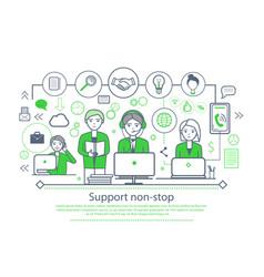 Support non-stop placard vector