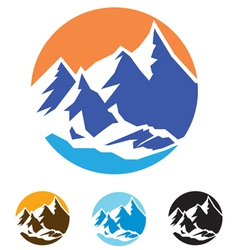 symbol of mountains vector image