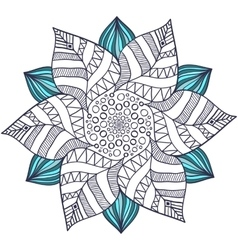 Unique mandala in floral style Circle vector image