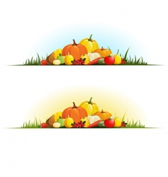 autumn gifts vector image vector image