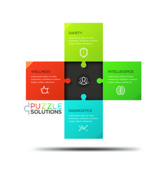 infographic design template jigsaw puzzle in vector image