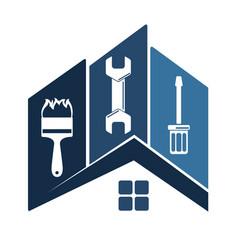 repair of home symbol vector image