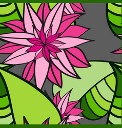 seamless floral pattern abstract leaves and vector image