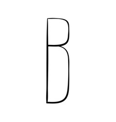 capital letter b painted by brush vector image
