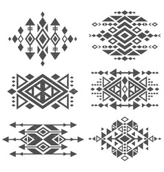 grunge mexican aztec tribal traditional vector image vector image