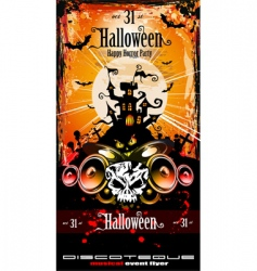 Halloween party disco flyer vector image vector image