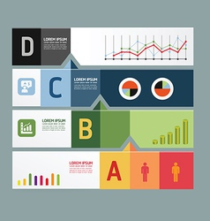 infographic template Modern Design Minimal style vector image vector image