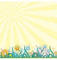 retro style meadow vector image vector image