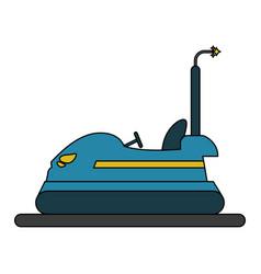 bumper car design vector image