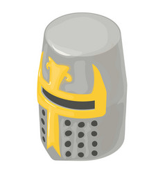 helmet knight soldier icon isometric 3d style vector image vector image