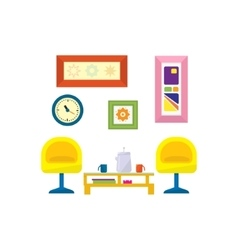Modern Style Living Room Furniture vector image vector image