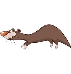 Cute otter cartoon character vector
