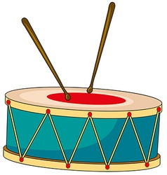 Drum with wooden sticks vector image