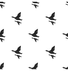 Ducks icon in black style isolated on white vector image vector image
